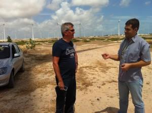 Visita técnica ao Parque Eólico Rio do Fogo em Natal/RN (Crédito: O Autor)